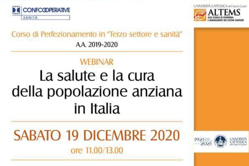 Salute e cura degli anziani, webinar con il presidente Milanese