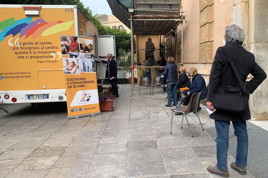 Palermo, OSA alla Giornata Straordinaria di vaccinazioni anti Covid nelle parrocchie