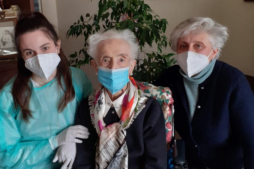 Nonna Maria, 105 anni, dopo l'operazione al femore ha scelto OSA