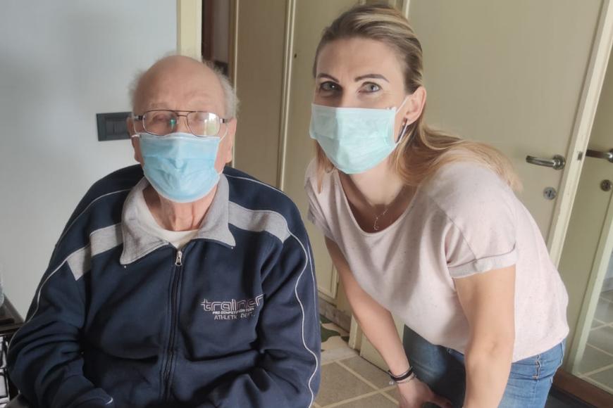 Giuliano e Dorota, una storia di assistenza domiciliare